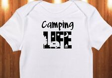 "Adorable ""Camping Life"" Onesie Outdoor Gerber Baby Girl/Boy Onesie Clothes Gifts"