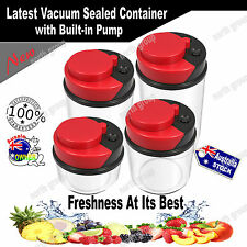 Airtight Vacuum Pump Sealed Kitchen Storage Container Canister Bag Stackable