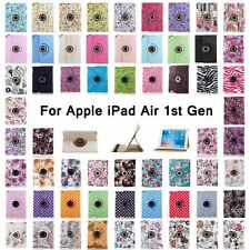 "360 Rotating Folio Stand Smart Leather Case Cover For Apple iPad 9.7"" iPad Air 1"