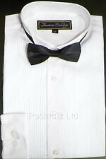 Baby & Boys Classic American Exchange Tuxedo Shirt Wedding Party Prom (1-16yrs)