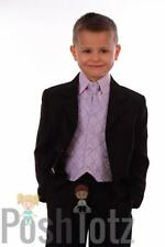 Boys Suits 5 piece Lilac Formal Suit Wedding Pageboy suits (0-3mths - 14yrs)