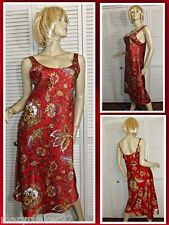 NWT N NATORI NIGHTGOWN S/M/L/XL 'MONGOLIA' RED FLORAL LONG SATIN CHARMEUSE GOWN