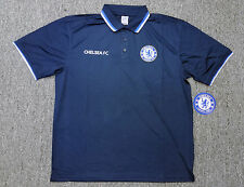 Chelsea FC Official Licensed Polo Rhinox Blue 100% Polyester.