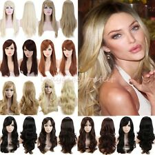 Extra Natural Hair Wig Women Long Straight Wavy New Cosplay Daily Party Full Wig