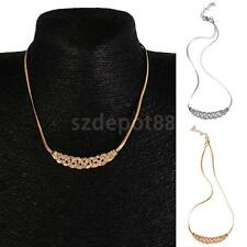 Fashion Jewelry Pendant Chain Shiny Choker Chunky Charm Statement Bib Necklace
