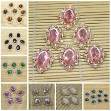 10pcs Flat Back Crystal Rhinestones Embellishment Card Making Phone Case Decoden