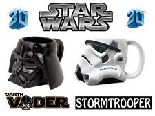 Star Wars Darth Vader Stormtrooper 3D Mugs Novelty Licensed Tea Coffee Mug Gift