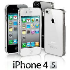 New Crystal Clear & Smoky Back Case Cover For The Apple iPhone 4 4G & iPhone 4S