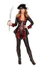 Sexy Roma 3pc Adventurous Pirate Babe Halloween Costume W/WO PIRATE HAT 4648