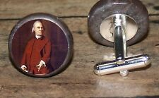 SAMUEL ADAMS marble altered art Cuff Link or Tie Tack or Ring or Pendant or Pin