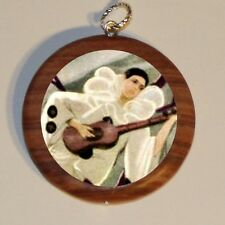 Guitar PIERROT art marble Cuff Link or Tie Tack or Ring or Pendant or Pin