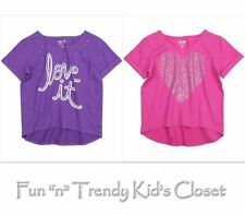 NWT Kids Girls Size 10 & 12 77Kids American Eagle Crew Tee Shirt Top Pink Purple