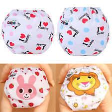 Baby Printed Cartoon Washable Nappy Reusable Cloth Diaper PP Cover Wrap Pad