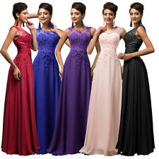 LACE Long Evening Formal Party Ball Gown Prom Cocktail Bridesmaid Wedding Dress