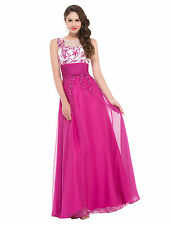 GK Chiffon Ball Gown Evening Formal Prom Cocktail Party Full Long Dress 8 Sizes