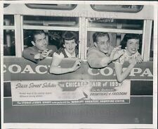 1950 Illinois Chicago Fair of 1950 Bus on Opening Day Press Photo