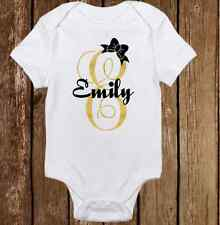 Unique Glitter Custom Name -Cute Baby Girl Clothes Bodysuit Onesie Personalized