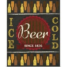 Poster Print Wall Art entitled Ice Cold Beer