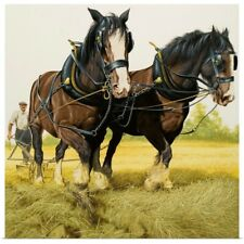 Poster Print Wall Art entitled Farm Horses