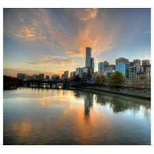 Poster Print Wall Art entitled Sunset over the Yarra River, Melbourne, Australia
