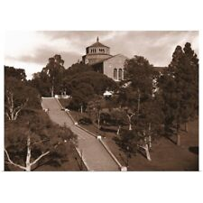 Poster Print Wall Art entitled University campus stairs, University Of