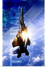 Poster Print Wall Art entitled Military Grunge Poster: Triumph. An F-15E Strike
