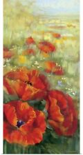 Poster Print Wall Art entitled Red Poppy Panel