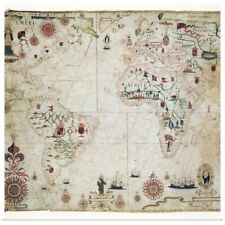 Poster Print Wall Art entitled 17th Century nautical map of the Atlantic