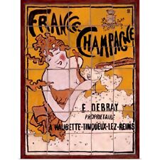 Poster Print Wall Art entitled Framce, Champagne, Vintage Poster, by Pierre