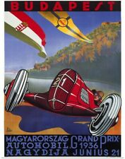 Poster Print Wall Art entitled Budapest, Grand Prix 1936,Vintage Poster