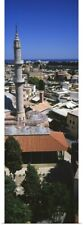 Poster Print Wall Art entitled High angle view of a city, Rhodes, Greece