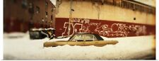 Poster Print Wall Art entitled Car buried in snow Williamsburg Brooklyn New York