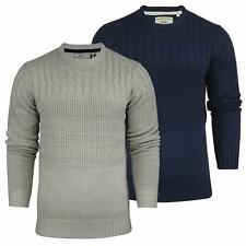 Mens Jumper Brave Soul 'Quest' Crew Neck Cable Knitted Jumpers All Sizes S-XL