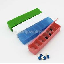 7 Days Portable Pill Box Weekly Medicine Tablet Vitamin Case Holders Splitters