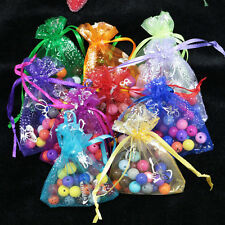 100 Premium Organza Wedding Favour XMAS GIFT BAGS Jewellery Candy Pouches 7x9cm