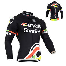 Mens Road Cycling Tops Outfits Long Sleeve Jersey Bike Riding Sweater Shirt New