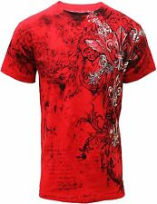 Konflic NWT Men's Graphic Designer MMA Muscle Tee 723-RD