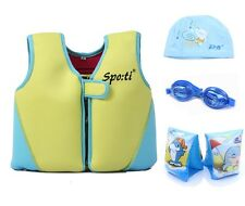 Baby's  Large Life Jacket 1-7 Years  include Swim Arm Band,Swim Goggles and Cap