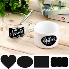 36pcs Cute Cup Lable Sticker Chalkboard Blackboard Removable Decal Container Tag