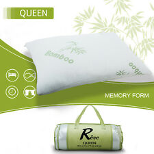 Hotel Bamboo Bed Pillow Memory Foam Hypoallergenic Cool Comfort w/Travel Bag