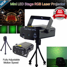 Mini LED Stage laser Light Red & Green Star Projector Strobe DJ Disco Party Xmas
