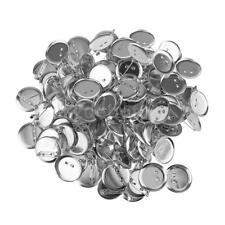 Pack of 95/50PCS Silver Brooch Base Blanks Trays Backs Pins DIY Findings