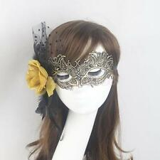Lady Flower Feather Lace Eye Mask Masquerade Halloween Party Costume