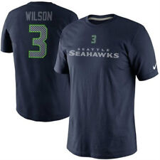 NEW!! NIKE RUSSELL WILSON SEATTLE SEAHAWKS #3 NFL Navy T- Shirt  Nice!!