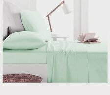 1000TC Egyptian Cotton 1pc  FLAT SHEET Sateen Solid Mint Green