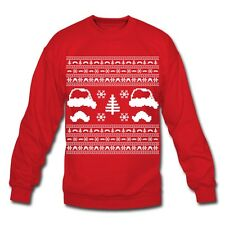 Mustache Ugly Christmas Sweater Men's Sweatshirt by Spreadshirt
