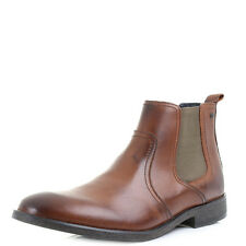 Mens Base London Combust Waxy Tan  Brown Leather Chelsea Boots Shu Size