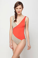 Anthropologie Crimson Crossed Maillot Size L, Reversible Swimsuit By Basta Surf