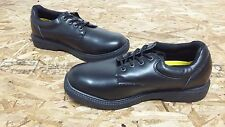 New Mens Safetrax Kato 2 Non Skid Leather Black Work Occupational Shoes (J129)