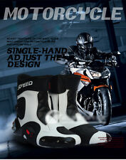 Fashion Mens Black Motorcycle Racing boots Biker Boots Motorbiker Size Shoes
